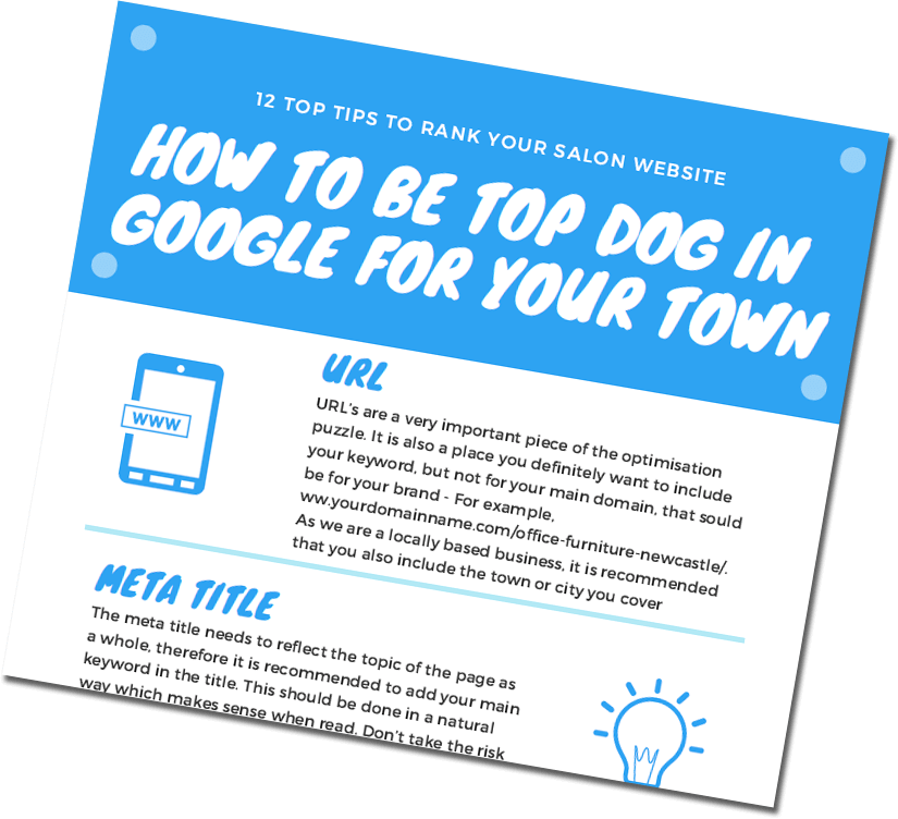 12 top tips to rank your salon website at the top of the search engines