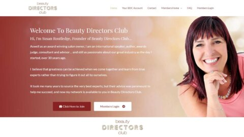 Beauty directors club hero susan routledge