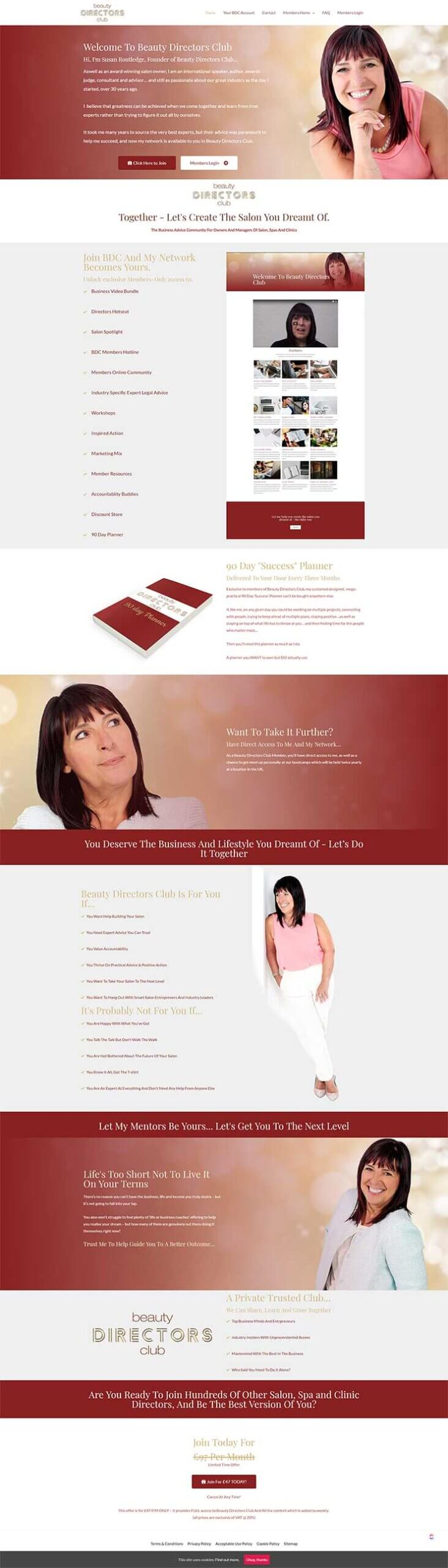 beauty directors club homepage